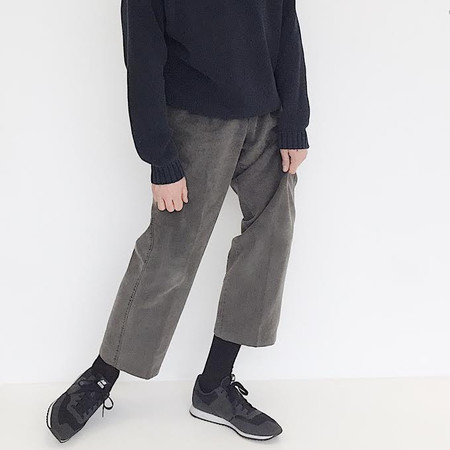 Johan Vintage Grey Brushed Cotton Pant