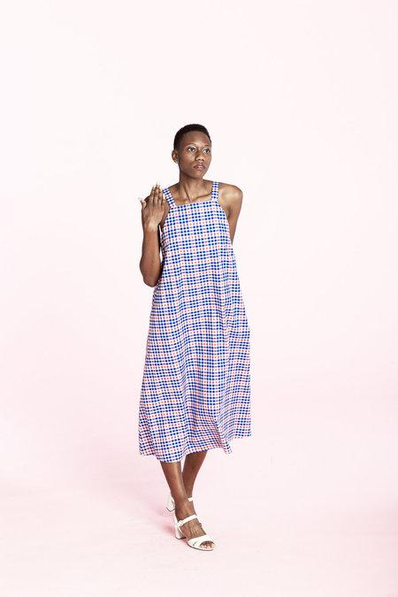Carleen Picnic Dress- Plaid
