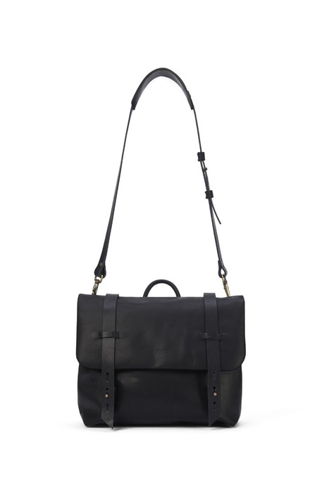 Lowell Black Nappa Leather