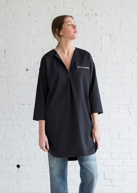 Nomia Oversized Tunic Dress Midnight