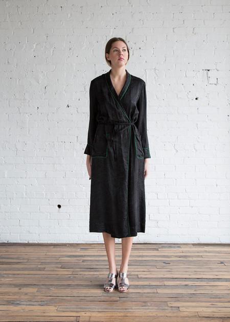 Raquel Allegra Robe Dress Black