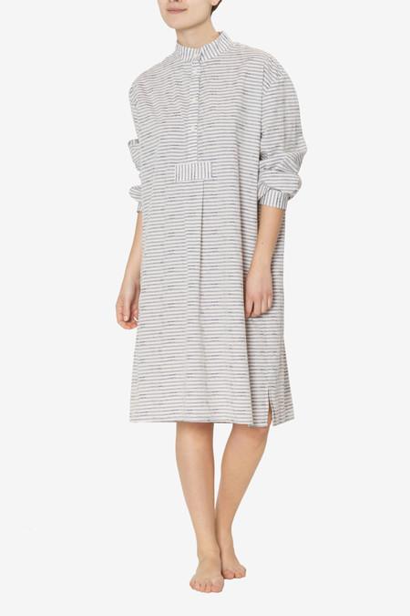 The Sleep Shirt Long Sleep Shirt Floral Underlay Stripe