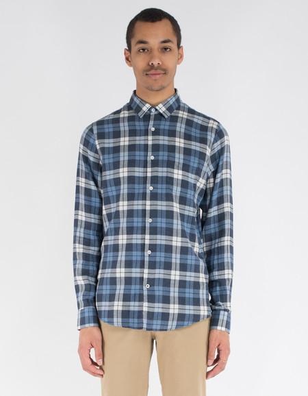 No Nationality Sean Check Shirt Blue