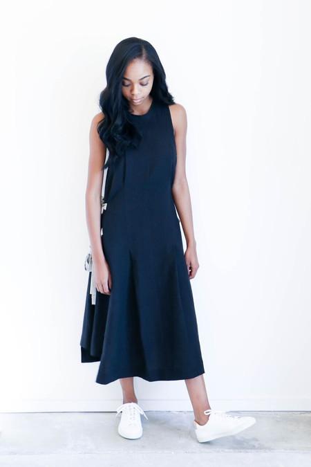 Luisa et la Luna Bara Dress in Black Linen