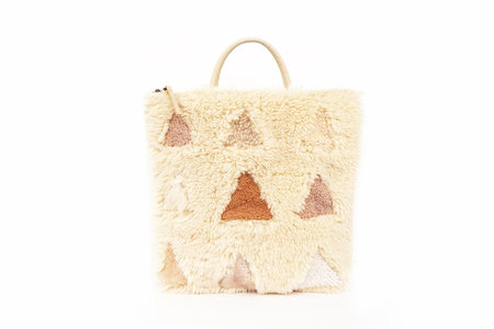 Primecut Sheepskin Backpack Patchwork Triangles