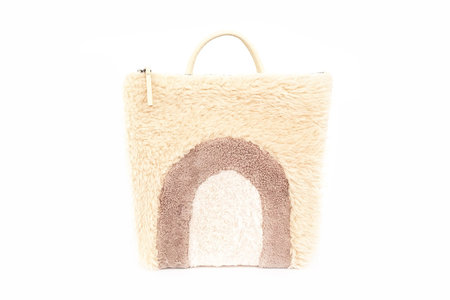 Primecut Sheepskin Backpack Patchwork Arches