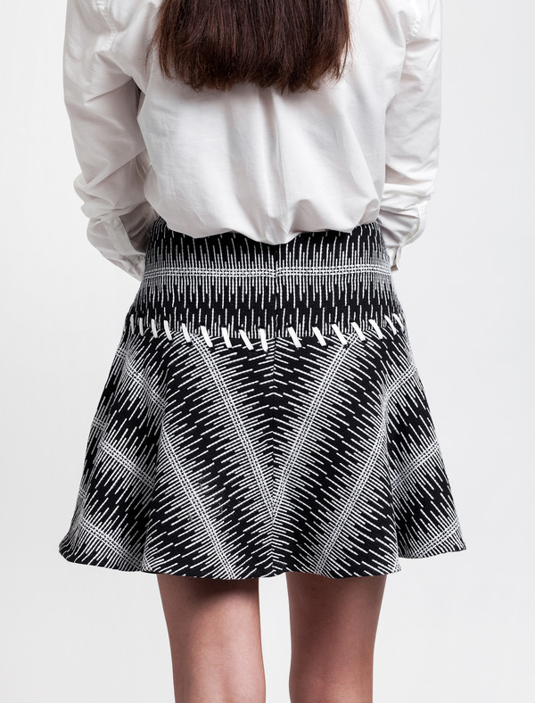 Cotton Tweed Full Skirt