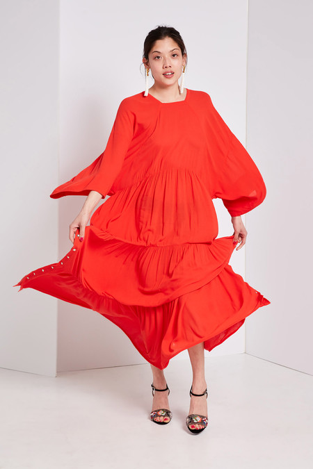 LF Markey Ricky Dress Vermillion
