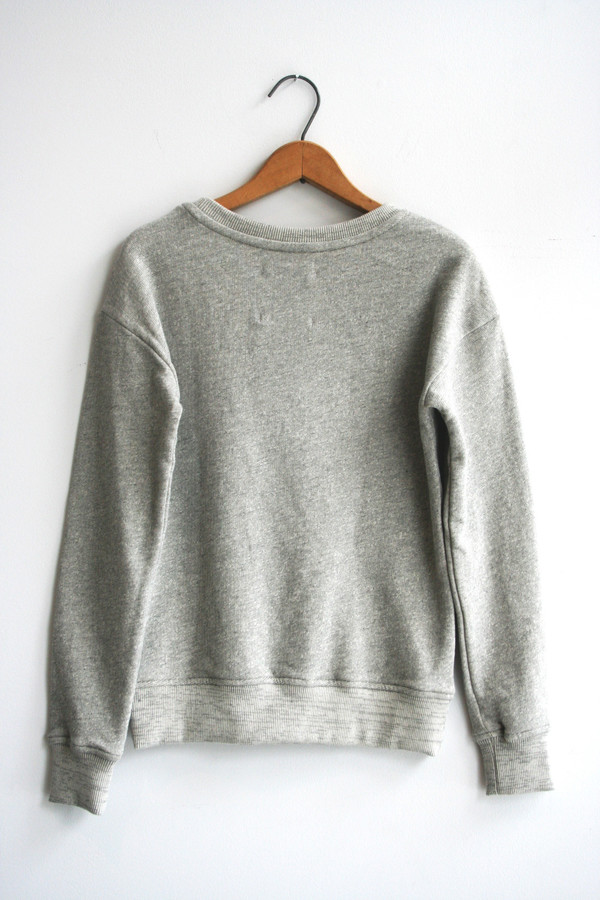 Alternative Apparel  Organic Crewneck | Heather Grey