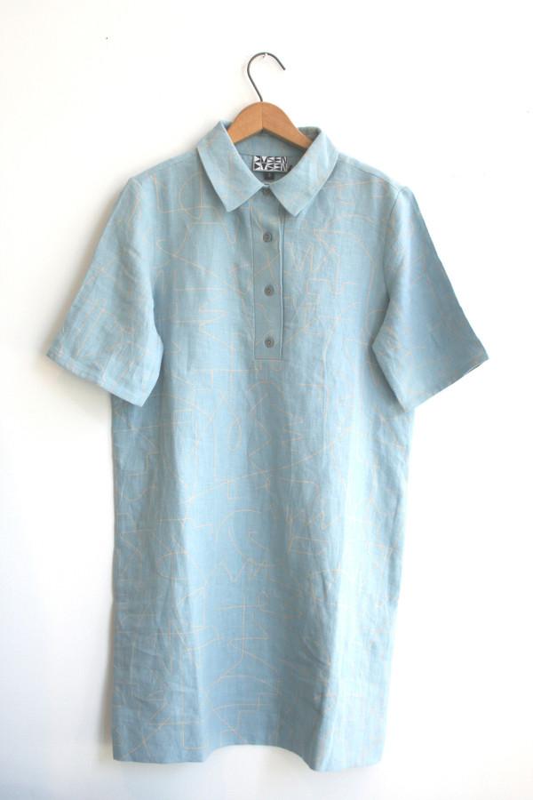 Dusen Dusen Short Collared Dress