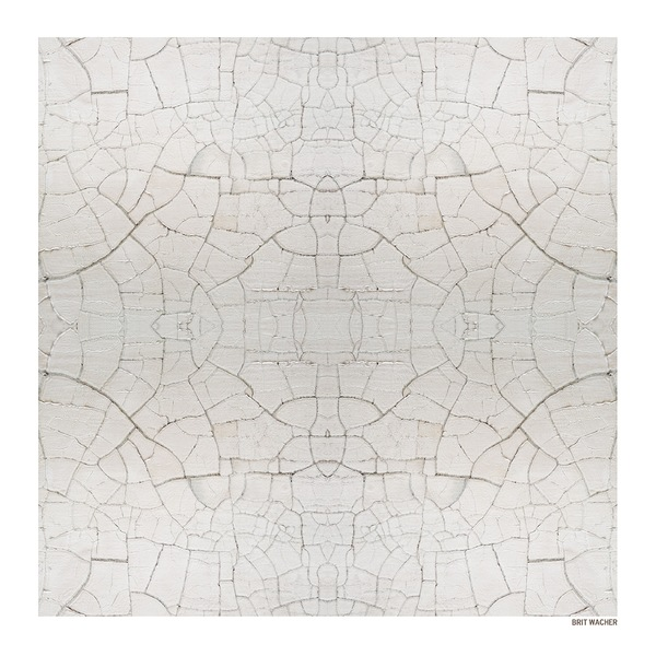 """Brit Wacher Silk Square Scarf """" Time Spent on Earth Part 2"""" Special Edition"""