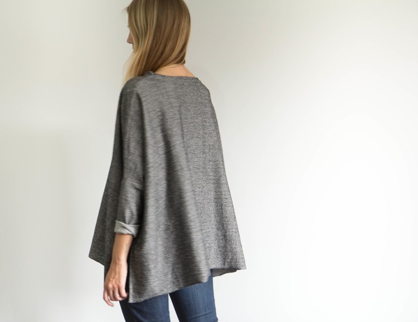 Side Split Long Sleeve - Grey