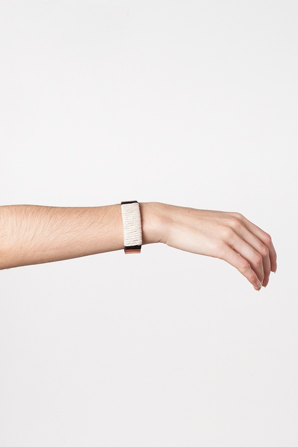 WWAKE x Assembly New York Large Wrapped Cuff-white