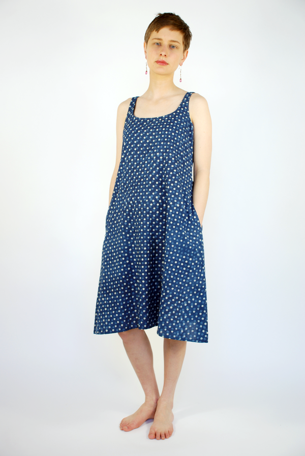 Muny Hand Dyed Indigo Shift Dress