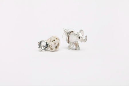 Mirit Weinstock Treasure Earrings Set Elephant