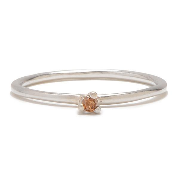 Tarin Thomas Taylor Silver and Cognac Diamond Ring