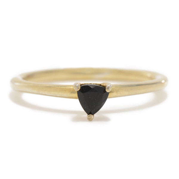 Tarin Thomas Tyler Yellow Brass and Onyx Ring
