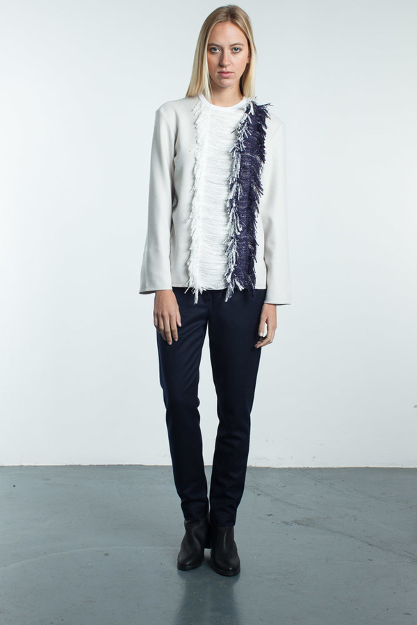 Steven Tai Long Sleeve Shirt With Fringe