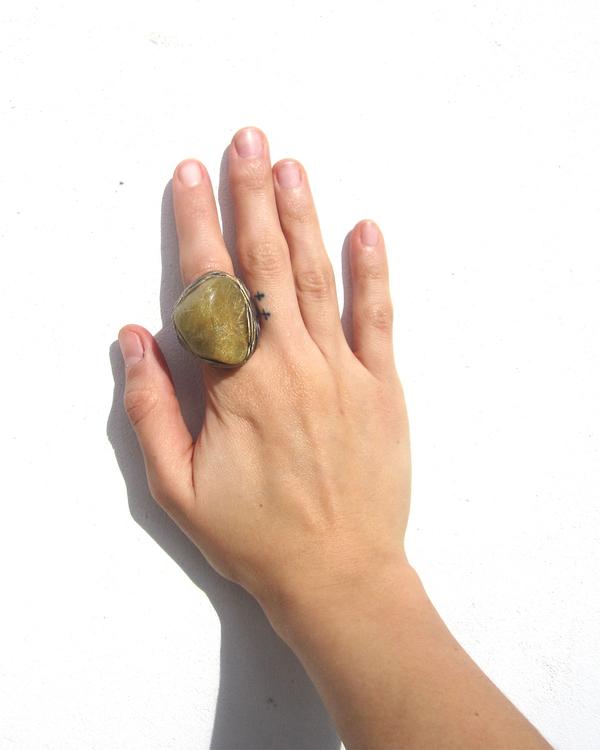 Adina Mills Golden Bismuth Ring