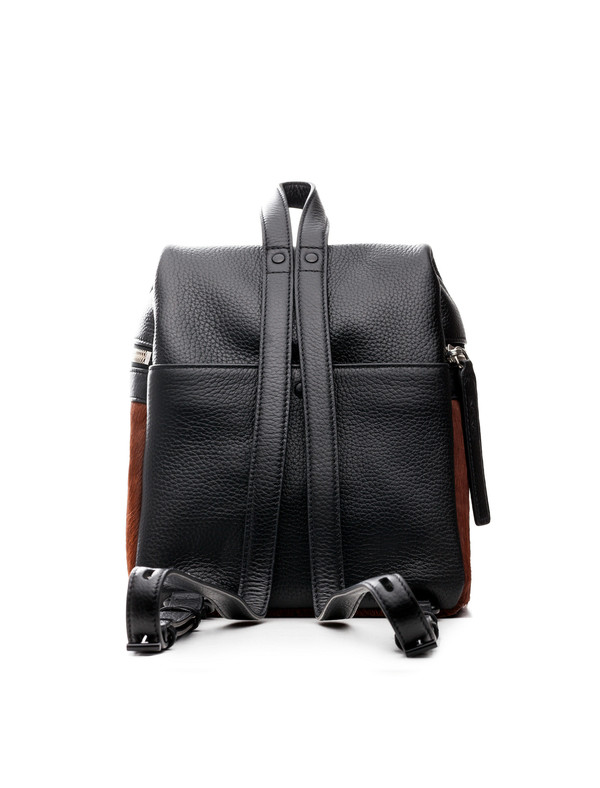 Kara Calf Hair Small Backpack Brown
