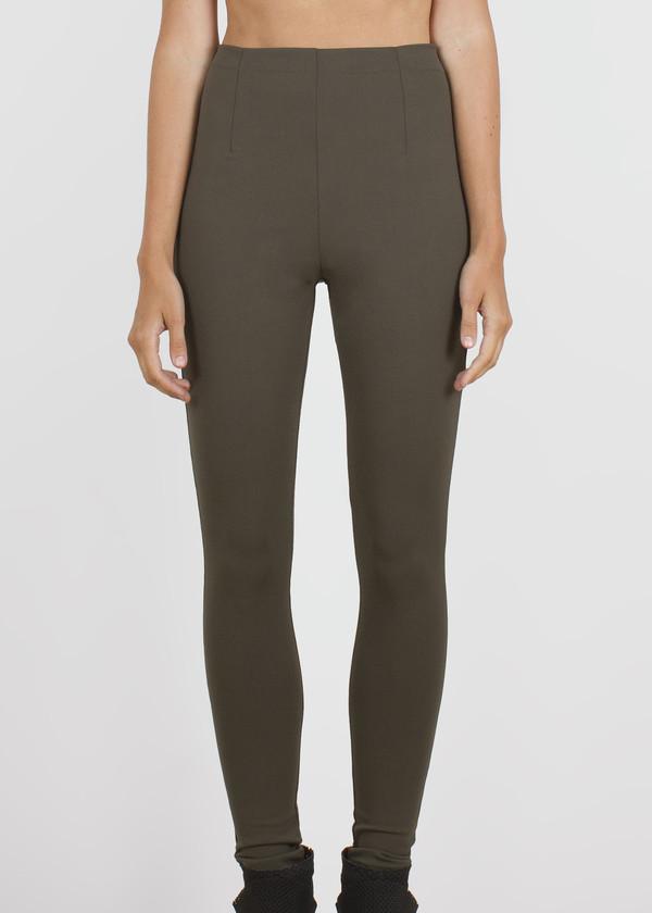 slick pants - dark moss