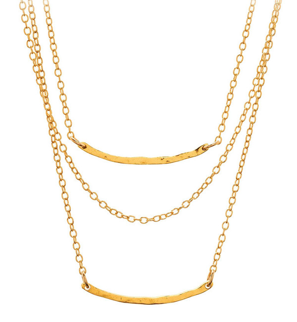 Gorjana Taner Bar Mini Triple Layer Necklace