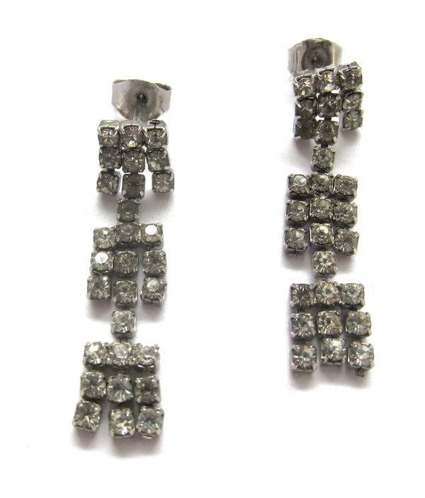 Vintage Collection Rhinestone tassel earrings