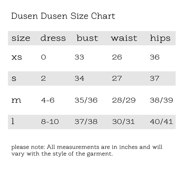 Kate Dress by Dusen Dusen