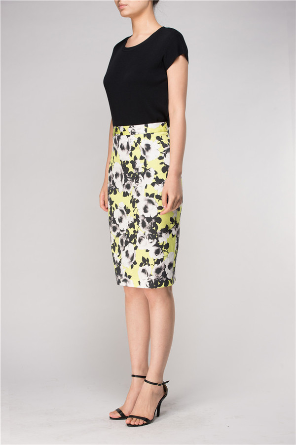 Few Moda Blessing Midi Pencil Skirt