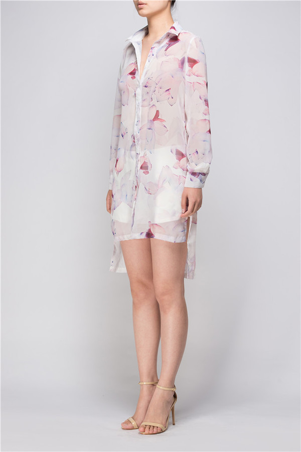 Few Moda Light Weight Floral Long Shirt