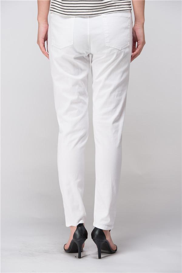 Few Moda White Urban Busted Knee Boyfriend Jeans