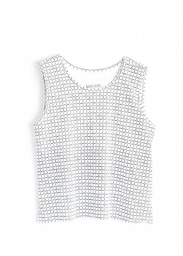 Ilana Kohn Jersey Muscle Tank | White Grid