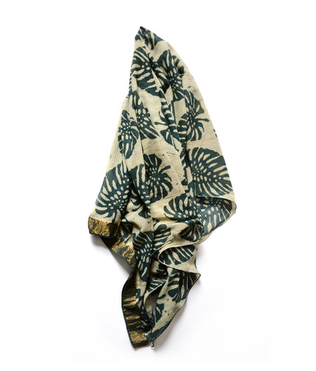 Ichcha Leaf Patta Green Summer Scarf
