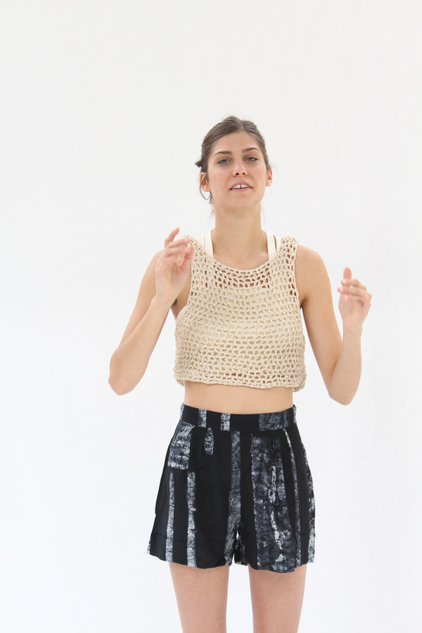 Osei-Duro Linia Crochet Tank in Cream
