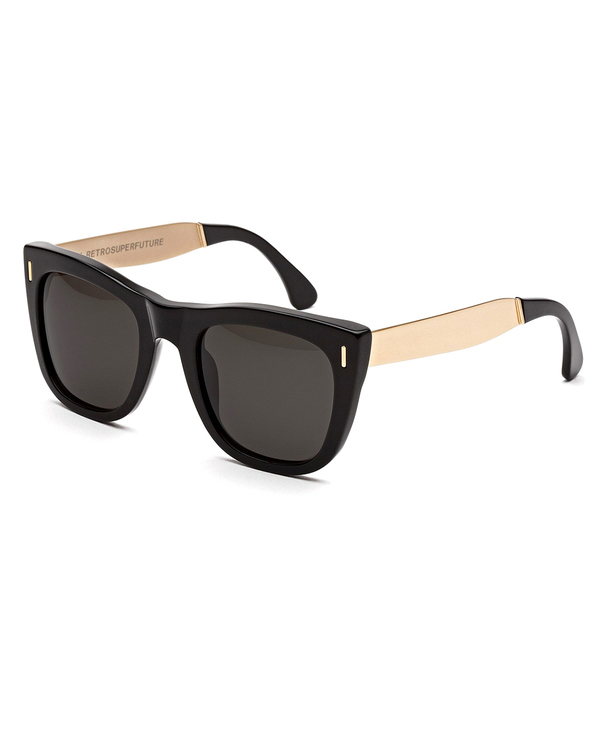 RetroSuperFuture Gals Sunglasses in Francis Black and Gold
