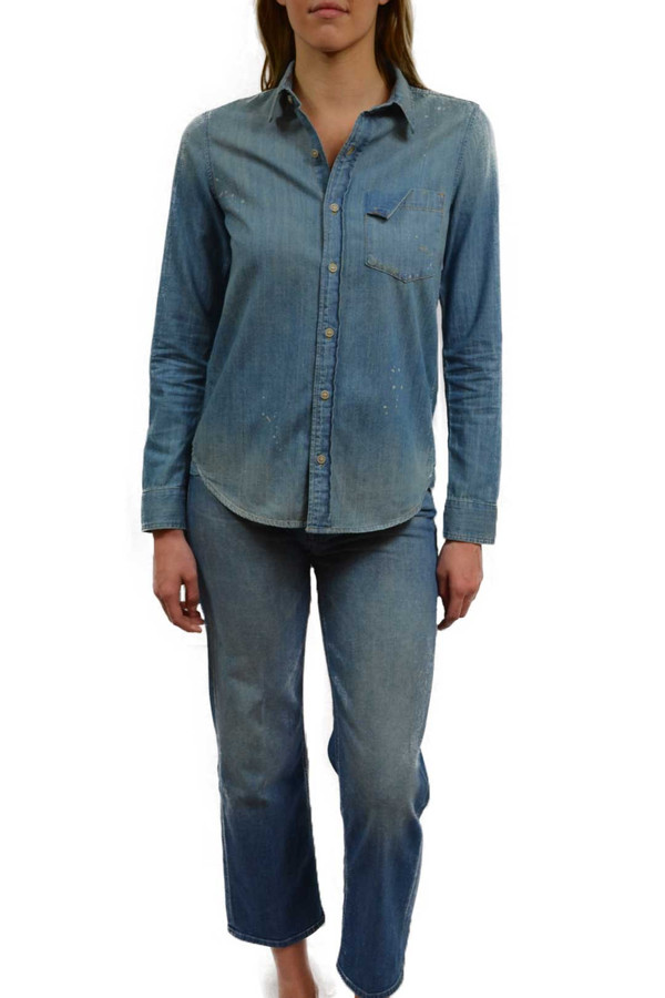 Mother Denim Ripped Foxy Boxy Top