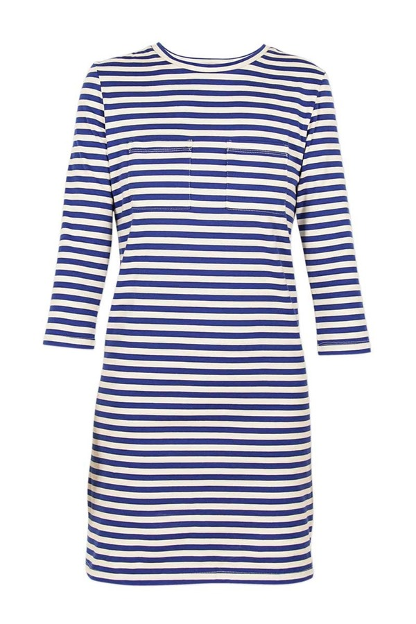 Litke Breton Stripe Two-Pocket Tee Dress