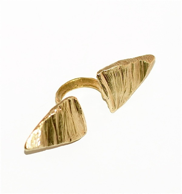 Nettie Kent Gold finished brass Naxos Ring