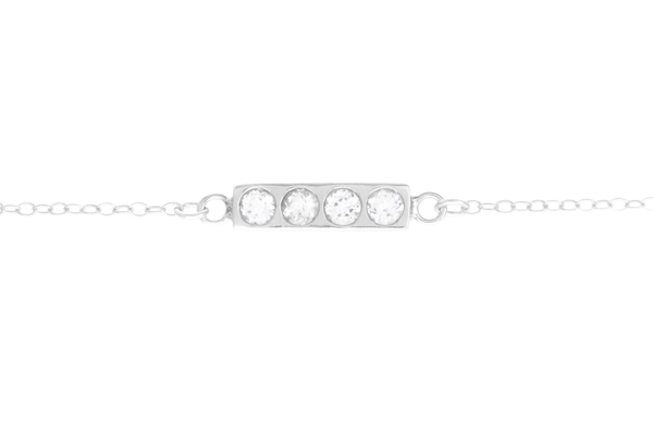 Shahla Karimi Bar Necklace with White Topaz