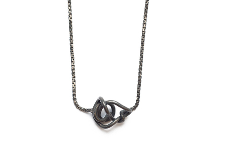 Psyche Floating Imperfect Knot Necklace