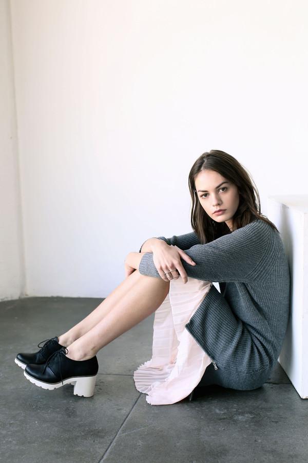 Cosette Cecilia Sweater Dress Light Grey