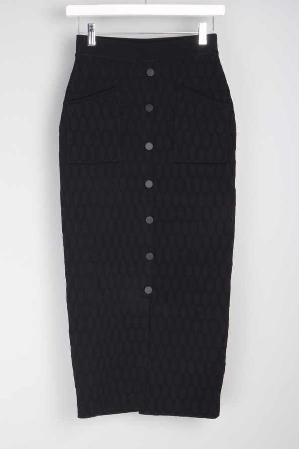 Jonathan Simkhai Quilted Button Skirt