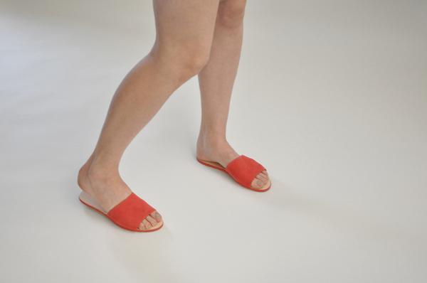 "The Palatines ""caelum"" slide sandal | tomato"