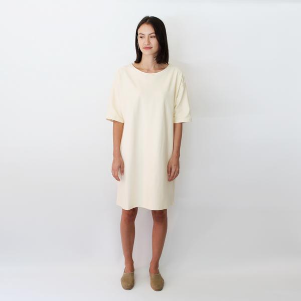 Revisited sweatshirt tee dress nude