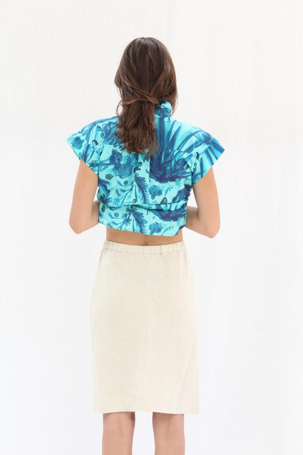 Lina Rennell Vintage Linen Skirt