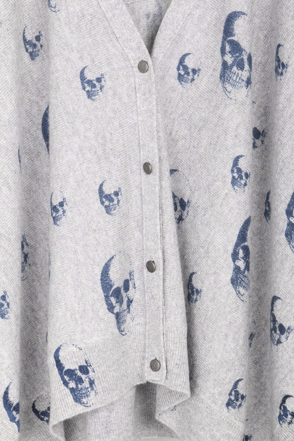 Skull Cashmere Chaos Swingy Cardigan