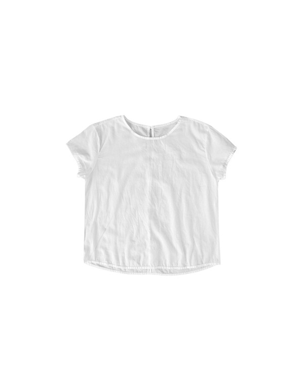 Ali Golden CAP-SLEEVE TOP | White