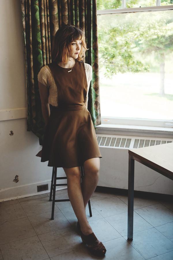 Betina Lou Charlotte Pinafore | Camel