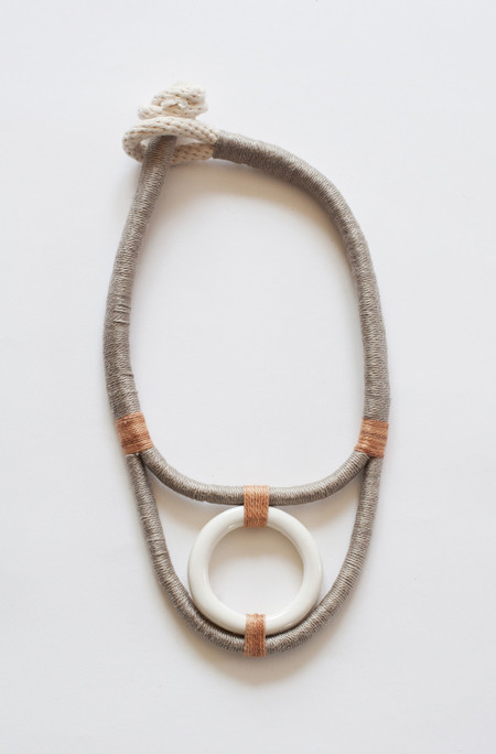 Gamma Folk Necklace No. 24 - Light Grey