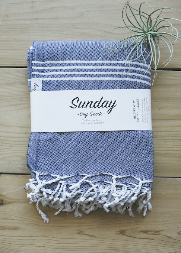 Sunday Dry Goods The Everyday Family Towel, Navy